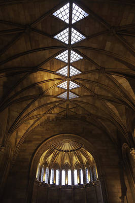 Smithsonian Castle Vaulted Ceiling Art Print by Lynn Palmer