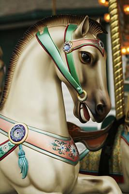 Smithville Carousel Horse I Art Print