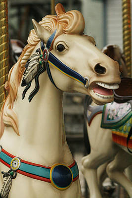 Photograph - Smithville Carousel Horse II by Kristia Adams