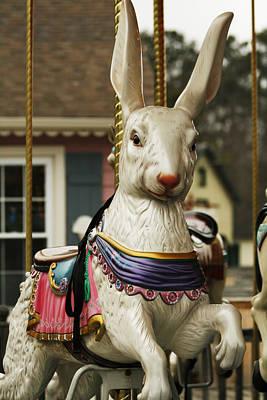 Photograph - Smithville Carousel Rabbit by Kristia Adams