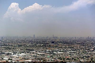 Smog Over Mexico City Art Print