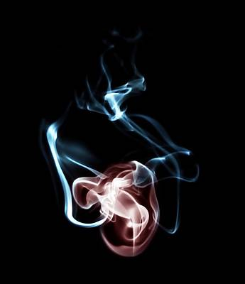 Smoke 3 - Mother And Child Art Print by Mark Fuller