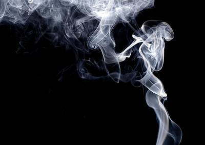 Photograph - Smoke Against Black Background by Alexander Rieber / Eyeem