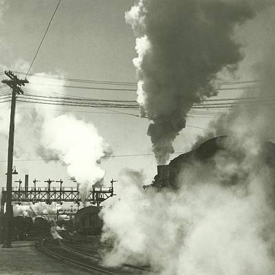 Photograph - Smoke Billowing From Trains by Remie Lohse