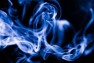 Smoke Close Up Art Print
