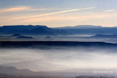 Photograph - Smoke From A Forest Fire As Seen From Jerome Arizona by Ron Chilston