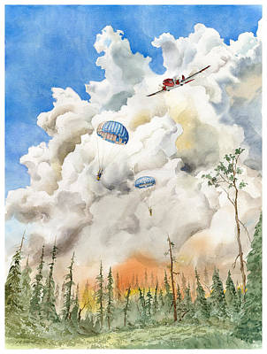 Painting - Smoke Jumpers by John Norman Stewart