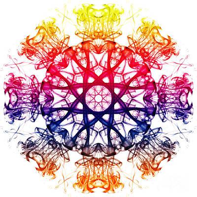 Algorithmic Photograph - Smoke Mandala 2 by Steve Purnell