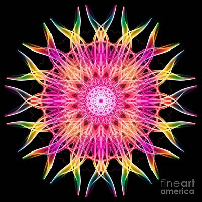 Algorithmic Photograph - Smoke Mandala 6 by Steve Purnell