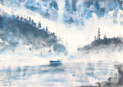 Painting - Smoke On The Water  by Reed Novotny