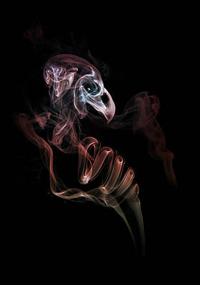 Photograph - Smoke Skull by Jaroslaw Blaminsky