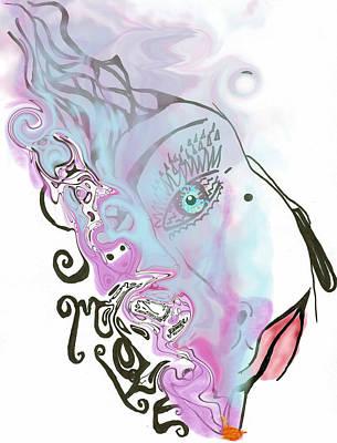 Smoke Art Print by Tiffany Selig