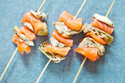 Upscale Photograph - Smoked Salmon And Grilled Artichoke by Tom Gowanlock