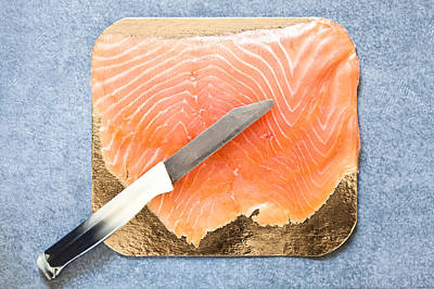 Upscale Photograph - Smoked Salmon by Tom Gowanlock