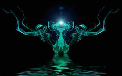 Digital Art - Smokedance by WB Johnston