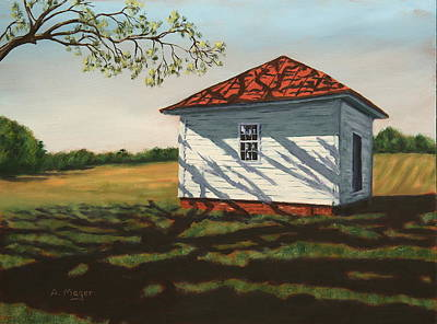 Painting - Smokehouse by Alan Mager