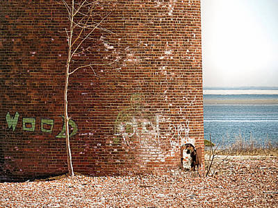 Photograph - Smokestack Base  by Janice Drew