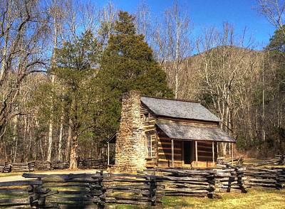 Smokey Mountain Cabin Art Print by Daniel Eskridge