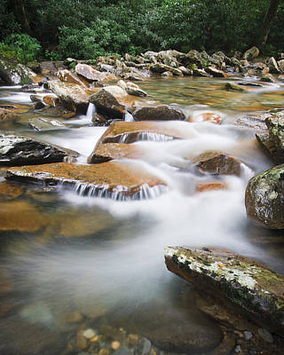 Waterfall Photograph - Smokey Mountain Creek by Adam Romanowicz