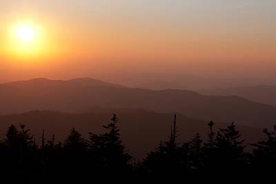 Photograph - Smokey Mountain Sunset by Mike Lanzetta