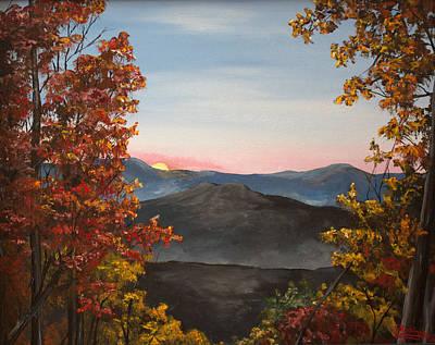 Smokey Mountains Painting - Smokey Mountains Sunrise by Julia Robinson
