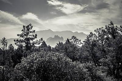 Sedona Photograph - Smokey Sedona Mountians  by Chris Bordeleau
