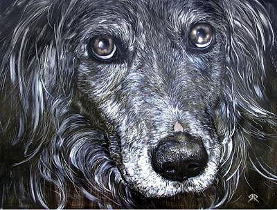 Dog Close-up Painting - Smokie The Wonder Dog by Rick Reason