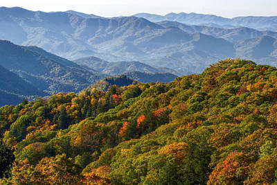 Photograph - Smokies Fall Landscape by Shari Jardina