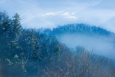 Photograph - Smokies In Blue by Maria Robinson