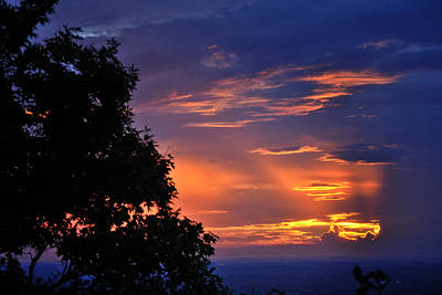 Photograph - Smokies Sunset 3 by George Taylor