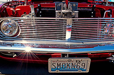 Photograph - Smokin 69 Mustang by Tikvah's Hope