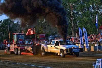Photograph - Smokin Diesel Performance Pulling Truck by Tim McCullough
