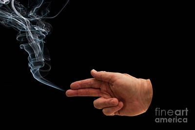 Photograph - Smokin Gun by Steve Purnell