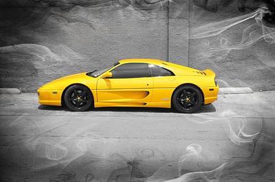 Photograph - Smokin' Hot Ferrari by Kathy Churchman