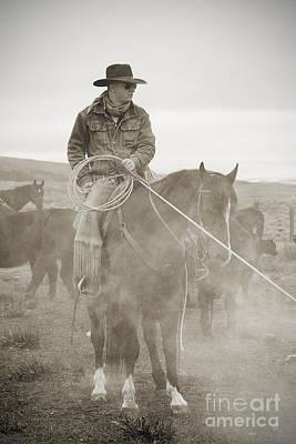 Cowboy Art Photograph - Smokin' by Nikole Morgan