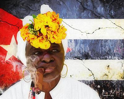 Digital Art - Smoking #2 - Caribbean Serie by Gabriel T Toro