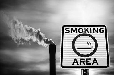 Photograph - Smoking Area by Bob Orsillo