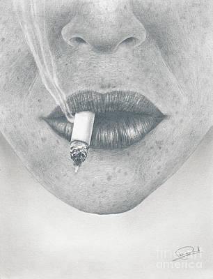 Smoking Lips Original by Pierre Huard