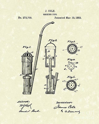 Smoking Pipe 1883 Patent Art Art Print