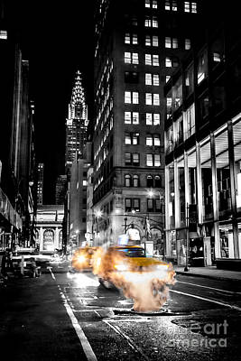 City Scenes Royalty-Free and Rights-Managed Images - Smoking Streets Of New York  by Az Jackson