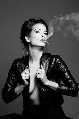 Smokers Photograph - Smoking..... by Tal Flint