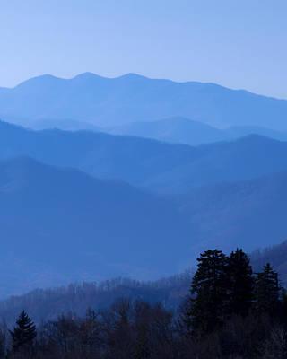 Smoky Mountains Photograph - Smoky Blues by Chris Moore