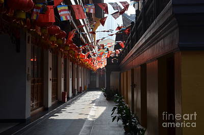 Photograph - Smoky Hallway Inside Chinese Temple Shanghai by Imran Ahmed