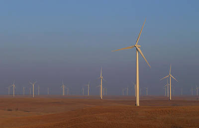 Photograph - Smoky Hills Wind Project by Ben Shields