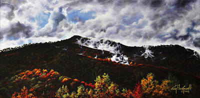 Painting - Smoky Mountain Angel Hair by Craig T Burgwardt