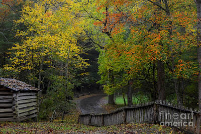 Photograph - Smoky Mountain Autumn Around The Tipton Place by Nature Scapes Fine Art