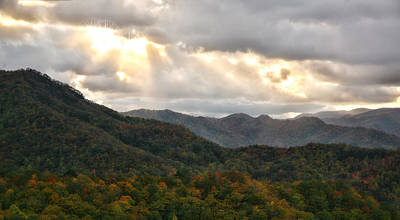 Photograph - Smoky Mountain Autumn Light by Shari Jardina