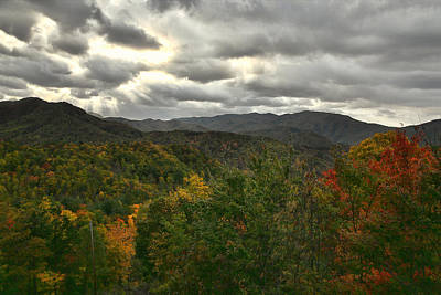 Photograph - Smoky Mountain Autumn View by Shari Jardina