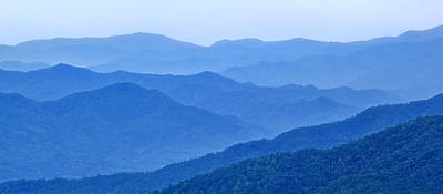 Photograph - Smoky Mountain Blues by Carolyn Derstine