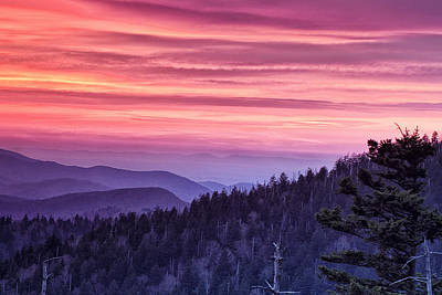 Pastel Sky Photograph - Smoky Mountain Evening by Andrew Soundarajan